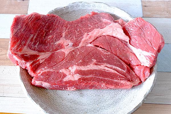 脂身の少ない赤身牛肉