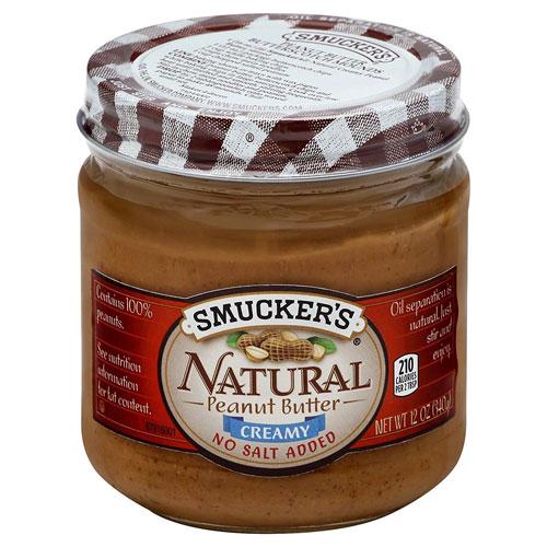 市販の人気なピーナッツバター(無糖)ランキング6位:スマッカーズ ナチュラルクリーミー ピーナッツバター340g